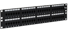 ICC Cabling Products: ICMPP48CP6 48 Port Cat 6 FEEDTHRU Patch Panel