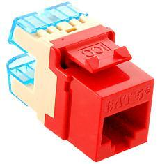 ICC Cabling Products: IC1078F5RD HD Cat5e Keystone Jack
