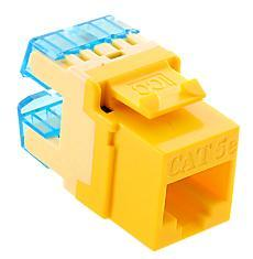 ICC Cabling Products: IC1078F5YL HD Cat5e Keystone Jack
