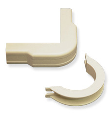 "ICC Cabling Products: ICRW12OBIV 1 1/4"" Ivory Outside Corner and Base 10 Pack"