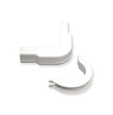 "ICC Cabling Products: ICRW12OBWH 1 1/4"" White Outside Corner and Base 10 Pack"