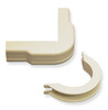 "ICC ICRW11OBIV 3/4"" Ivory Outside Corner and Base 10 Pack"