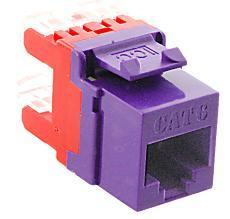 ICC Cabling Products: IC1078F6PR HD Cat 6 Keystone Jack