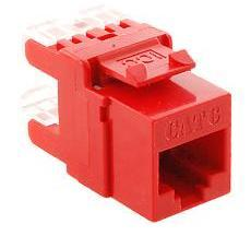 ICC Cabling Products: IC1078F6RD HD Cat 6 Keystone Jack