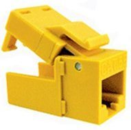 Platinum Tools: 706YL-40 Yellow Keystone Cat6 EZ-SnapJack 40 Pack