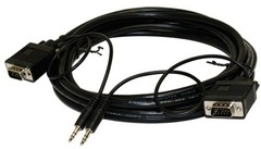 Steren: 253-206BK 6ft SVGA DE15HD + 3.5mm Cable