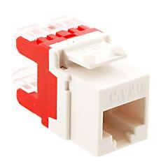 ICC Cabling Products: IC1078F6WH HD Cat 6 Keystone Jack