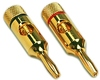 Steren 250-201 Gold Plated Speaker Wire Banana Plug Pair