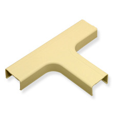 "ICC Cabling Products: ICRW44TEIV 1 3/4"" Ivory Tee Fitting"