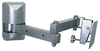VMP LCD-1 Small Configurable Flat Panel Articulating Wall Mount Silver