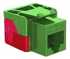 ICC IC1078L6GN EZ Cat 6 Modular Keystone Jack Green