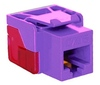 ICC IC1078L6PR EZ Cat 6 Modular Keystone Jack Purple
