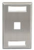ICC IC107S01SS Single Gang 1 Port ID Stainless Steel Wall Plate