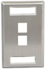 ICC IC107S02SS Single Gang 2 Port ID Stainless Steel Wall Plate
