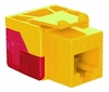 ICC IC1078L6YL EZ Cat 6 Modular Keystone Jack Yellow