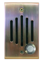 Channel Vision: IU-0262C Antique Copper Single Gang Door Unit
