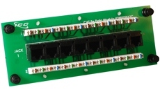 ICC Cabling Products: ICRESDPA3C 8 Port Cat5e Data Module