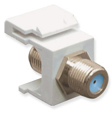 ICC Cabling Products: IC107B9FWH F Connector Keystone Jack