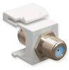ICC IC107B9FWH White Nickel Plated 3 GHz F Connector Keystone Jack