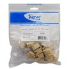 ICC IC1076FCIV Ivory High Density RJ-11 Voice Keystone Jack 25 Pack