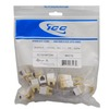 ICC IC1076FCWH White High Density RJ-11 Voice Keystone Jack 25 Pack