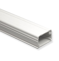 "ICC Cabling Products: ICRW22R8WH White 3/4""W X 1/2""H X 8""L Raceway Section"