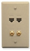 ICC ICRDS2F5IV (2) RJ-45 CAT 5e and (2) F-Type IDC Integrated Wall Plate Ivory