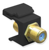 ICC IC107B9GBK Black Gold Plated 3 GHz F Connector Keystone Jack