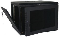 Quest Manufacturing: WM2019-09-02 9 RMS Black Wall Mount Cabinet Enclosure