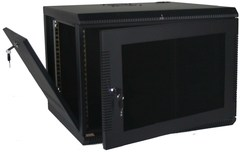 Quest Manufacturing: WM2019-16-02 16 RMS Black Wall Mount Cabinet Enclosure