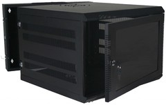 Quest Manufacturing: WM3019-07-02 7 RMS Black Swing-Out Wall Mount Enclosure