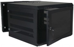 Quest Manufacturing: WM3019-11-02 11 RMS Black Swing-Out Wall Mount Enclosure