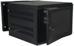 Quest Manufacturing: WM3019-14-02 14 RMS Black Swing-Out Wall Mount Enclosure