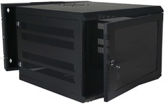 Quest Manufacturing: WM3019-16-02 16 RMS Black Swing-Out Wall Mount Enclosure