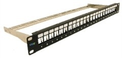 ICC Cabling Products: IC107PPS6A 24 Port Cat6A FTP Blank Patch Panel