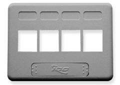 ICC: IC107FN4GY Gray 4 Port NEMA Keystone Furniture Faceplate