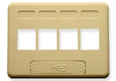 ICC: IC107FN4IV Ivory 4 Port NEMA Keystone Furniture Faceplate