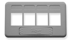 ICC: IC107FT4GY Gray 4 Port TIA Keystone Furniture Faceplate
