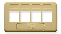 ICC: IC107FT4IV Ivory 4 Port TIA Keystone Furniture Faceplate