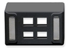 ICC IC108UF4BK Black Universal 4 Port Keystone Furniture Faceplate