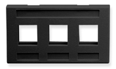 ICC: IC107FM3BK Black 3 Port TIA Keystone Furniture Faceplate