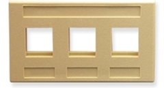 ICC: IC107FM3IV Ivory 3 Port TIA Keystone Furniture Faceplate