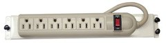 Channel Vision: C-0702 Bracket/Power Strip with 6 Horizontal Outlets