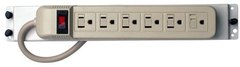 Channel Vision: C-0705 Bracket/Power Strip with 6 Vertical Outlets