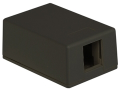 ICC Cabling Products: IC107SB1BK 1 Port Black Surface Mount Box