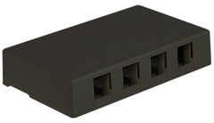 ICC Cabling Products: IC107SB4BK 4 Port Black Surface Mount Box