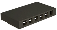 ICC Cabling Products: IC107SB6BK 6 Port Black Surface Mount Box