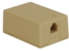 ICC IC625SV1IV Ivory 6P6C Voice Surface Mount Jack