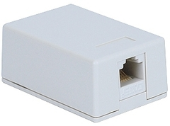ICC Cabling Products: IC625SV1WH White 6P6C Voice Surface Mount Jack