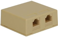 ICC Cabling Products: IC625S52IV Ivory 8P8C Dual Cat5e Surface Mount Jack